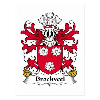 Brochwel Family Crest Postcard