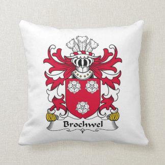 Brochwel Family Crest Throw Pillow