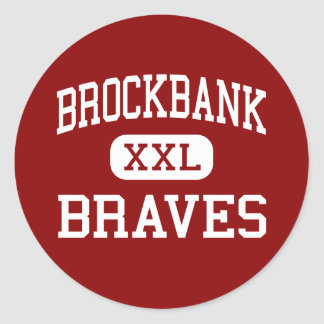 Brockbank - Braves - Junior - Magna Utah Round Stickers