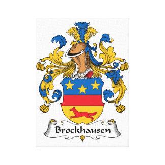 Brockhausen Family Crest Gallery Wrap Canvas