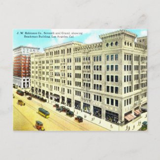Brockman Building, Los Angeles 1916 Vintage postcard