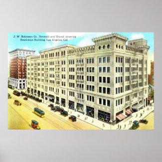 Brockman Building, Los Angeles 1916 Vintage print