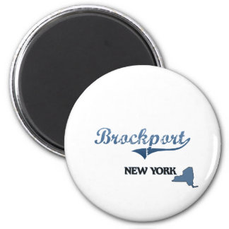 Brockport New York City Classic 2 Inch Round Magnet