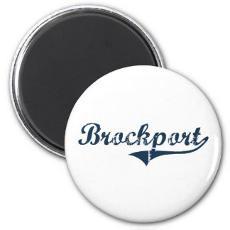 Brockport New York Classic Design 2 Inch Round Magnet