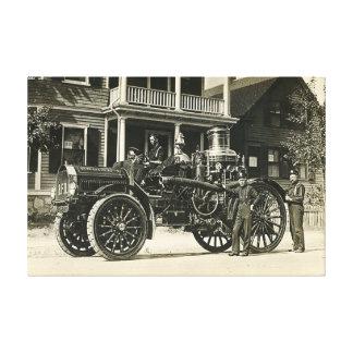 Brockton Fire Department Engine No 1 BFD Canvas Print