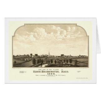 Brockton, MA Panoramic Map - 1844 Card