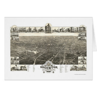 Brockton, MA Panoramic Map - 1882 Card