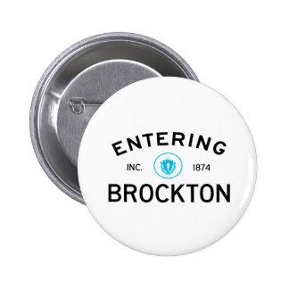 Brockton que entra pin redondo 5 cm
