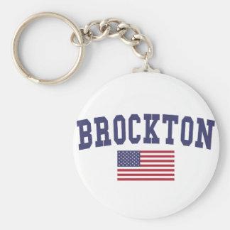 Brockton US Flag Keychain