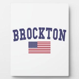 Brockton US Flag Plaque