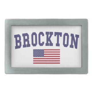 Brockton US Flag Rectangular Belt Buckle
