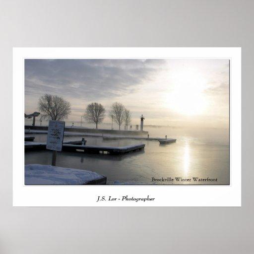 Brockville Winter Waterfront Poster