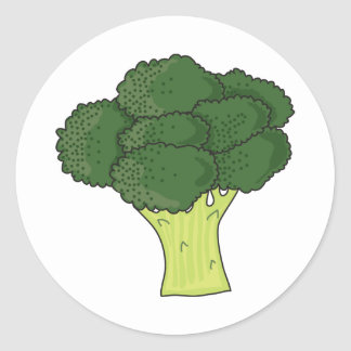 Brocolli Round Stickers