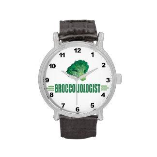 Bróculi chistoso relojes de pulsera