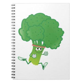 Bróculi corriente de Retron Libro De Apuntes