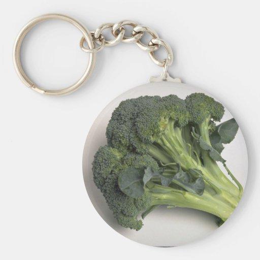 Bróculi delicioso llavero redondo tipo pin
