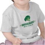 Bróculi divertido camisetas