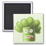 Bróculi divertido del dibujo animado imán de frigorifico
