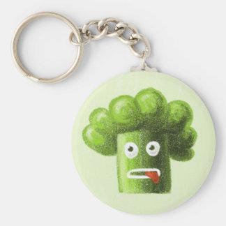 Bróculi divertido del dibujo animado llavero