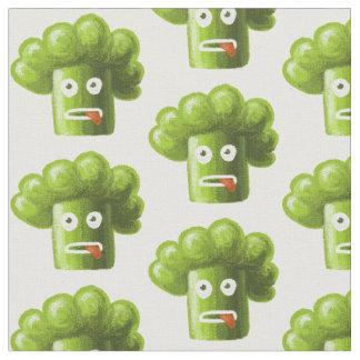 Bróculi divertido del dibujo animado telas