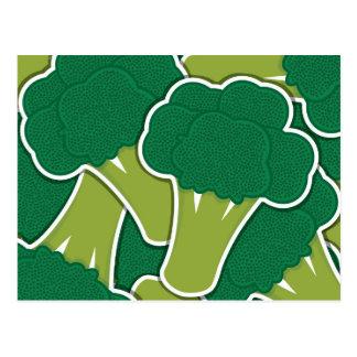 Bróculi enrrollado tarjetas postales