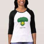 Bróculi - la camiseta de las mujeres del polluelo remeras