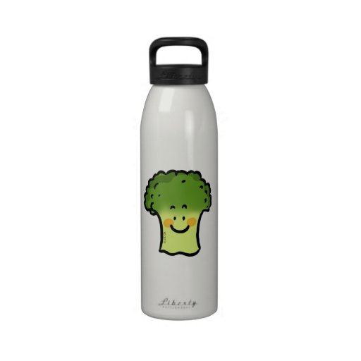 bróculi lindo botella de agua