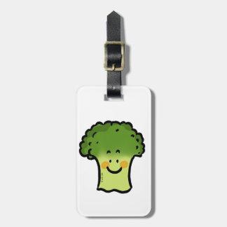 bróculi lindo etiqueta para maleta