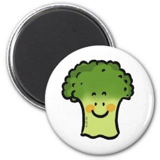 Bróculi lindo imán redondo 5 cm