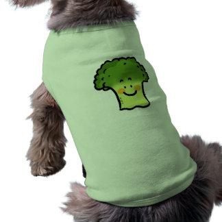 Bróculi lindo playera sin mangas para perro