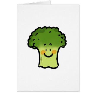 Bróculi lindo tarjeta de felicitación