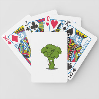 Bróculi vegetal sano baraja de cartas