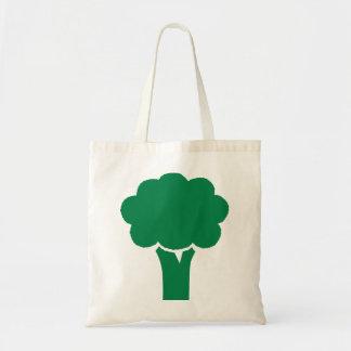 Bróculi verde bolsa lienzo