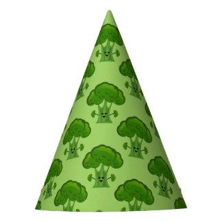 Bróculi verde feliz gorro de fiesta