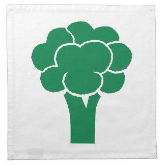 Bróculi verde servilletas imprimidas