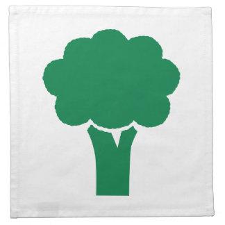 Bróculi verde servilleta de papel