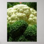 Bróculi y coliflor impresiones