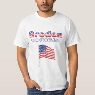 Broden para la bandera americana patriótica del remera