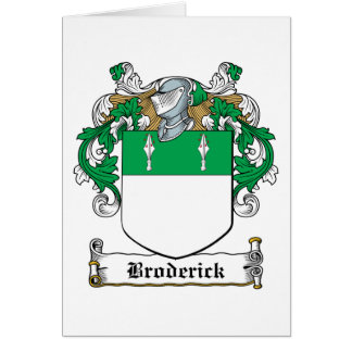 Broderick Family Crest Card