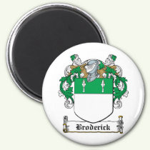 Broderick Family Crest Magnet