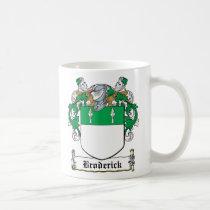 Broderick Family Crest Mug