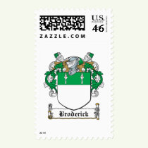 Broderick Family Crest Stamps