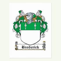 Broderick Family Crest Postcard