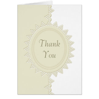 Broderie Anglaise Lace Thank You Notecards Stationery Note Card