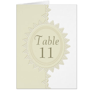 Broderie Anglaise Lace Wedding Table Number Card