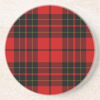 Brodie clan tartan red black plaid drink coaster