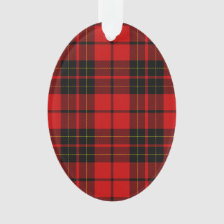 Brodie clan tartan red black plaid ornament