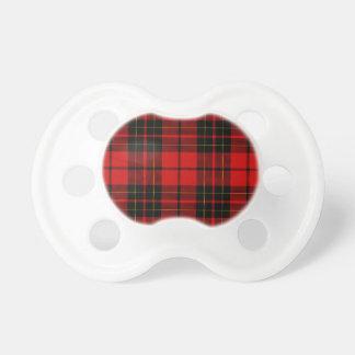 Brodie clan tartan red black plaid pacifier