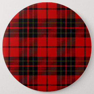Brodie clan tartan red black plaid pinback button