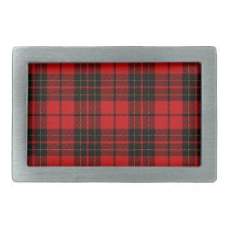 Brodie clan tartan red black plaid rectangular belt buckle